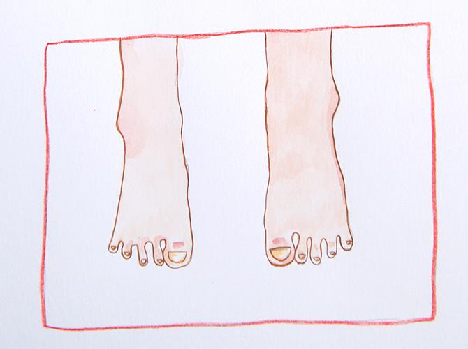 No me gustan los pies